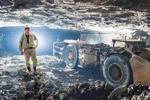 Working underground