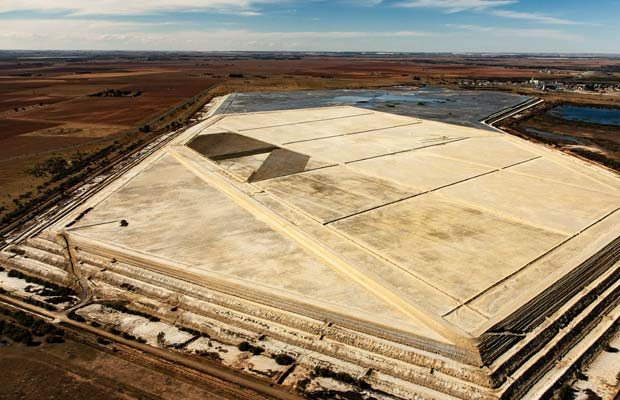 A dormant Tailings storage facility near the Beatrix shaft at the SA gold operations