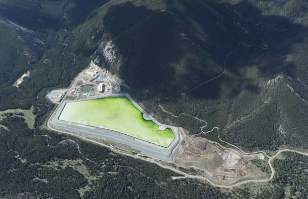 Tailings storage facility at the US PGM East Boulder mine